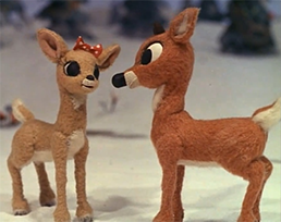 Clarice and Rudolph the Red Nosed Reindeer